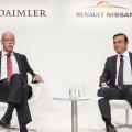 Colaboracion estrategica entre Daimler y la Alianza Renault-Nissan - Dieter Zetsche - Carlos Ghosn - Frankfurt 2015