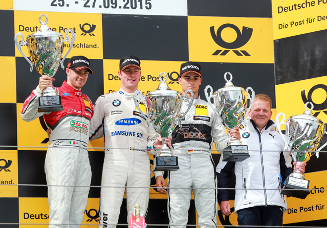DTM - Nurburgring 2015 - Carrera 1 - Edoardo Mortara - Maxime Martin - Pascal Wehrlein el Podio