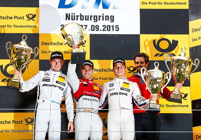 DTM - Nurburgring 2015 - Carrera 2 - Paul Di Resta - Miguel Molina - Bruno Spengler el Podio