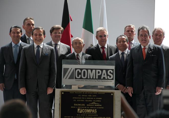 Daimler y la Alianza Renault-Nissan colocan la primera piedra de su nueva planta de cooperacion estrategica en Mexico