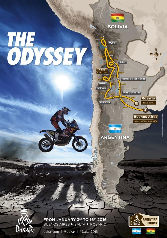 Dakar 2016 - Nuevo Recorrido en Argentina y Bolivia