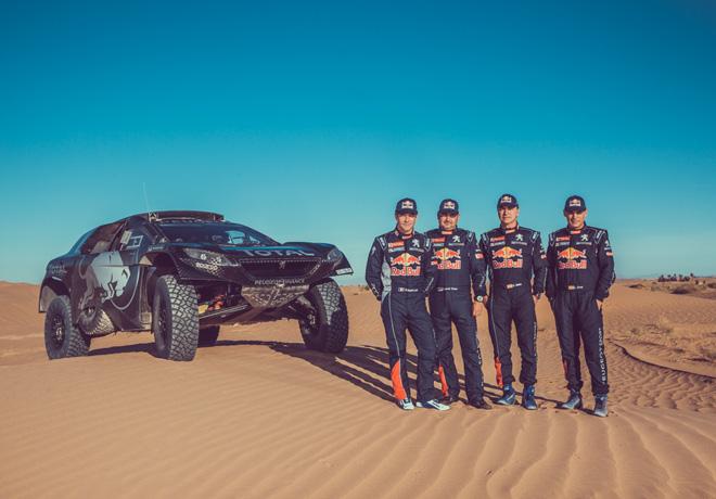 Dakar 2016 - Team Peugeot Total - Sebastien Loeb - Daniel Elena - Carlos Sainz - Lucas Cruz - 2008 DKR16