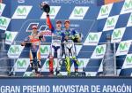 MotoGP - Aragon 2015 - Dani Pedrosa - Jorge Lorenzo - Valentino Rossi en el Podio
