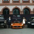Presentación mundial de los autos Bond de Jaguar y Land Rover en Frankfurt 1