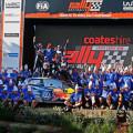 WRC - Australia 2015 - Final - Sebastien Ogier y el equipo VW Campeones