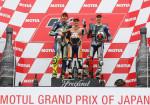 MotoGP - Motegi 2015 - Valentino Rossi - Dani Pedrosa - Jorge Lorenzo en el Podio