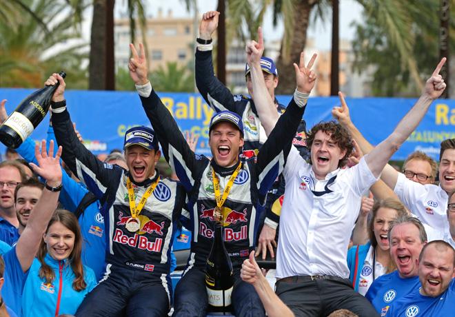 WRC - Catalunya 2015 - Final - Andreas Mikkelsen en el Podio