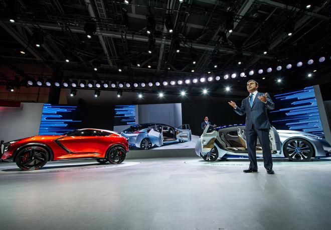 Carlos Ghosn - Presidente y CEO de Nissan en el Auto Show de Tokio 2015