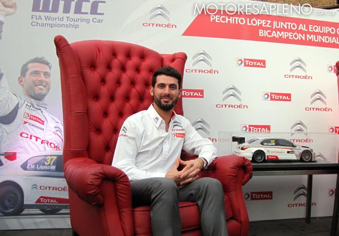 Citroen homenajeo a Jose Maria Lopez por su bicampeonato 2