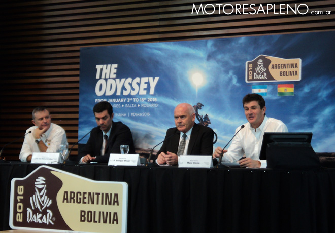 Dakar 2016 - Presentacion en Argentina