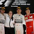 F1 - Abu Dhabi 2015 - Carrera - Lewis Hamilton - Nico Rosberg - Kimi Raikkonen en el Podio