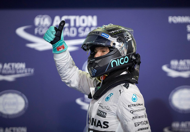 GP de Abu Dhabi de Fórmula 1 – Clasificación: Sexta pole consecutiva de Rosberg.