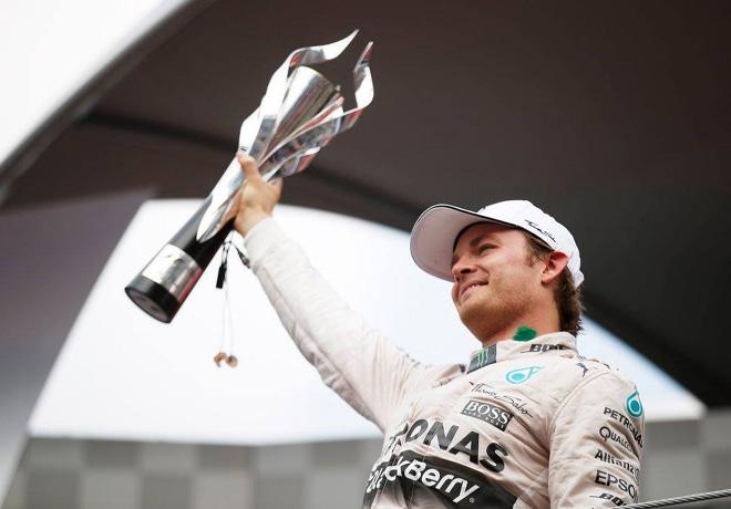 F1 - Mexico 2015 - Carrera - Nico Rosberg en el Podio