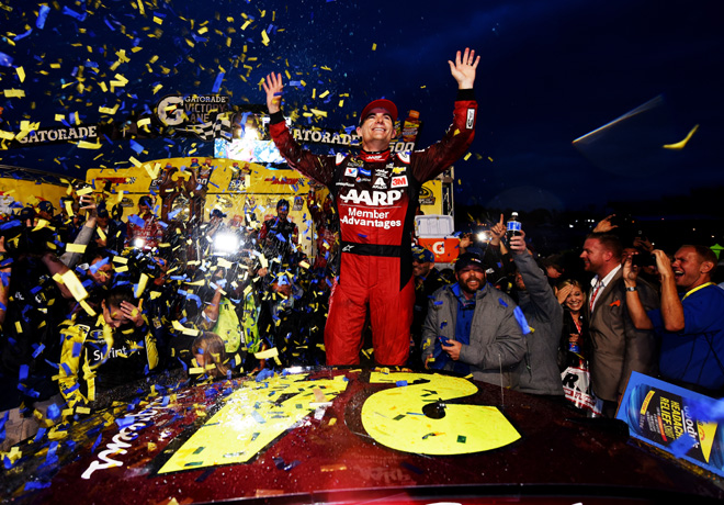 NASCAR - Martinsville 2015 - Jeff Gordon en el Victory Lane