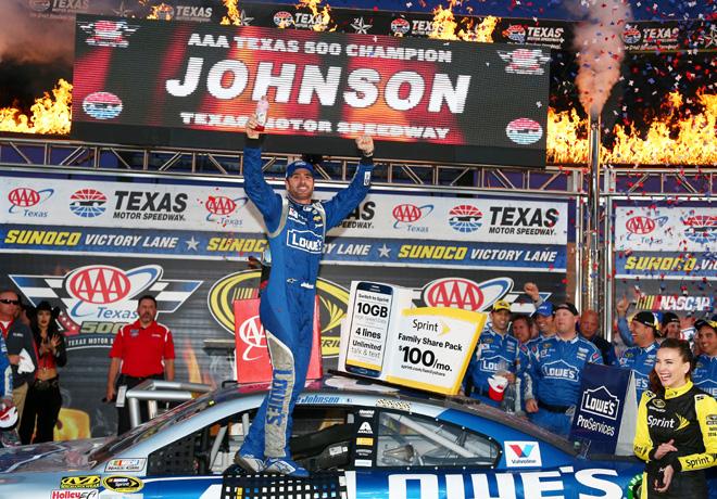 NASCAR - Texas 2015 - Jimmie Johnson en el Victory Lane