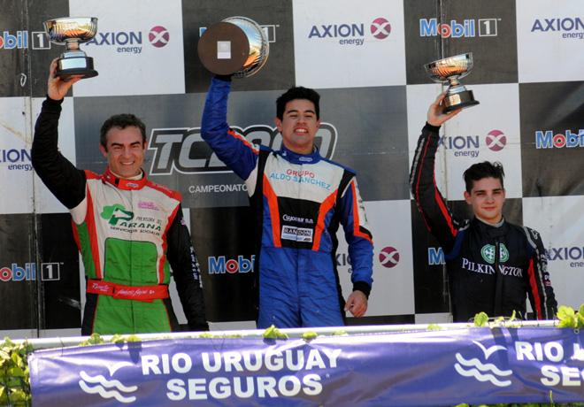 TC2000 - Concepcion del Uruguay 2015 - Carrera Final - Humberto Krujoski - Emmanuel Caceres - Manuel Luque en el Podio
