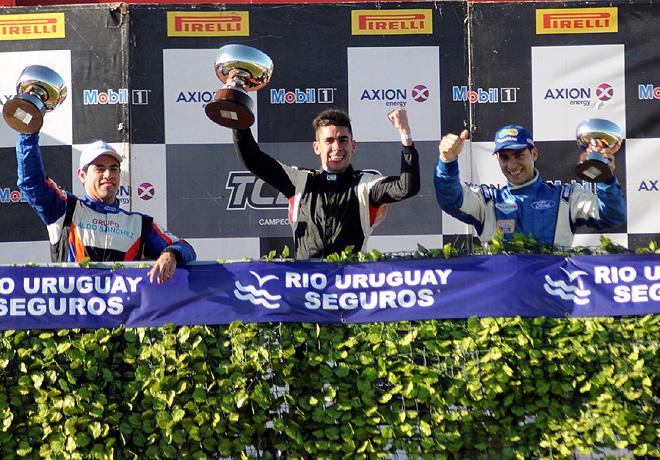 TC2000 - Concepcion del Uruguay 2015 - Carrera Sprint - Emmanuel Caceres - Franco Crivelli - Luciano Farroni en el Podio