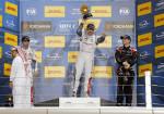 WTCC - Losail - Qatar 2015 - Carrera 2 -  Ma Qing Hua - Yvan Muller - Norbert Michelisz en el Podio