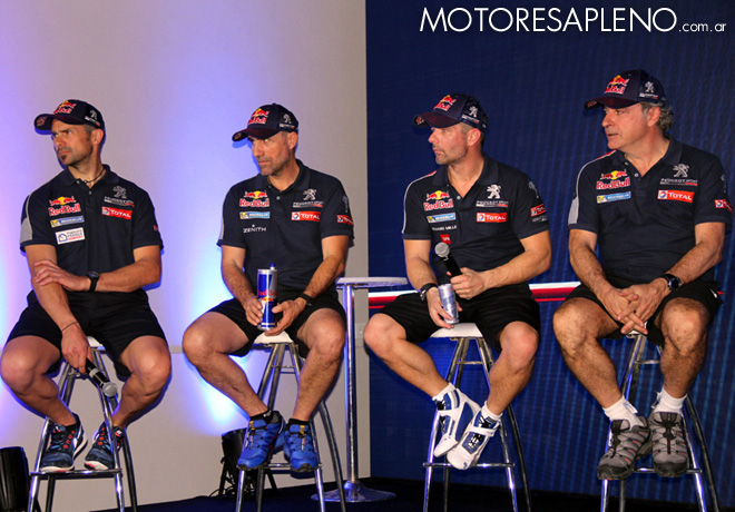 Dakar 2016 - Presentacion Team Peugeot Total - Despres - Peterhansel - Loeb - Sainz