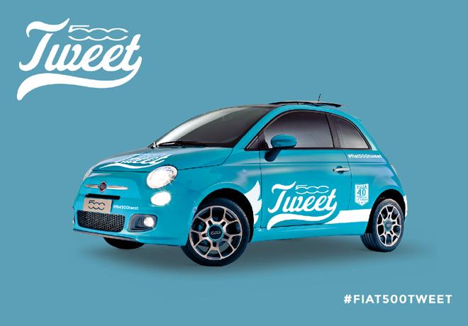 Fiat 500tweet