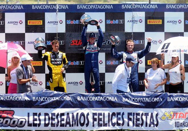 STC2000 - San Luis 2015 - Leonel Pernia - Nestor Girolami - Agustin Canapino en el Podio