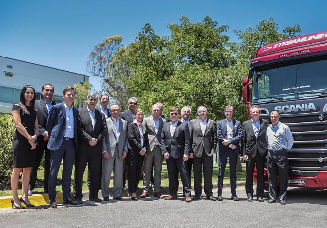 Scania Argentina recibio a sus directivos globales