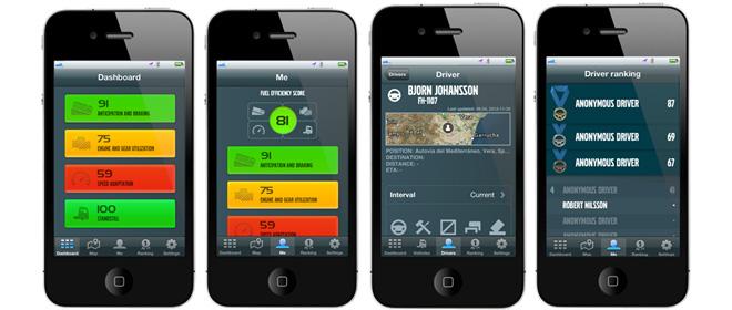Volvo Trucks - Dynafleet app version Smartphone