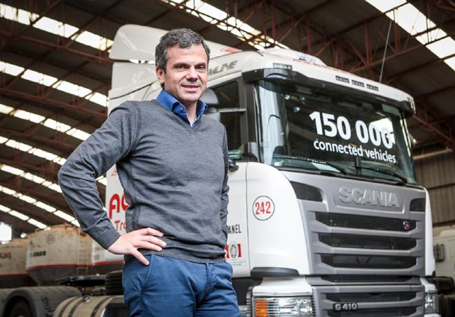 Scania Argentina - Pablo Galeano - Socio-Director de Aconcagua Transportes -  Camion 150 mil con Sistema de Gestion de Flotas activado