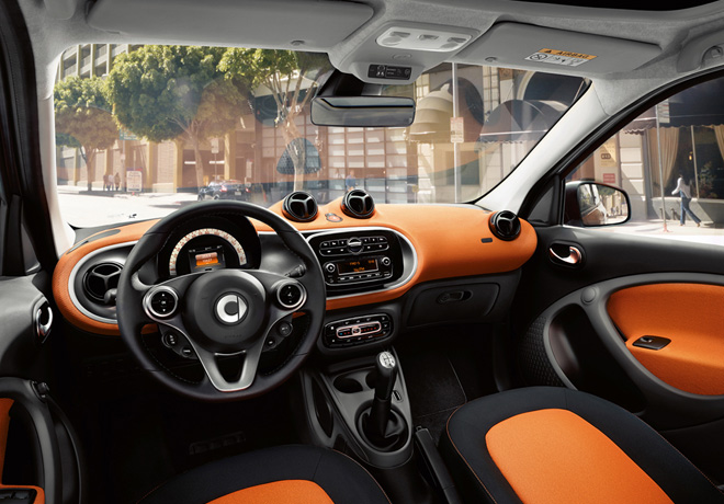 Smart - Interior passion negro-naranja
