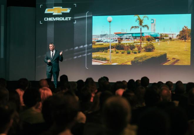 Carlos Zarlenga -Pres de GM Argentina- en la apertura de la Convencion Nacional Chevrolet No1