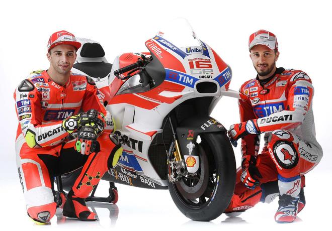 MotoGP - Andrea Iannone y Andrea Dovizioso - Ducati Desmo16 GP