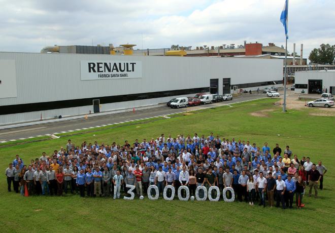 Renault Argentina produjo su auto num 3 millones en la Fabrica Santa Isabel de Cordoba