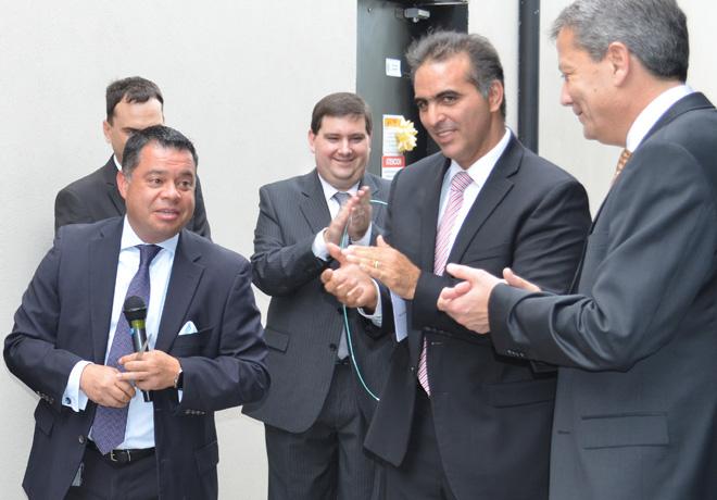 VW - Cachon Uribe - CIO VWA - Di Si - Presidente y CEO VWA -  Shanti - EVP y CIO de la VW Region America - Inauguracion del Centro de Computos