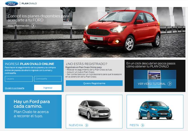 Ford Argentina - Nuevo sitio de venta online de Plan Ovalo