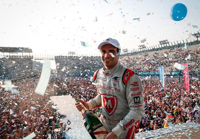 Formula E - Ciudad de Mexico 2016 - Jerome DAmbrosio en el Podio
