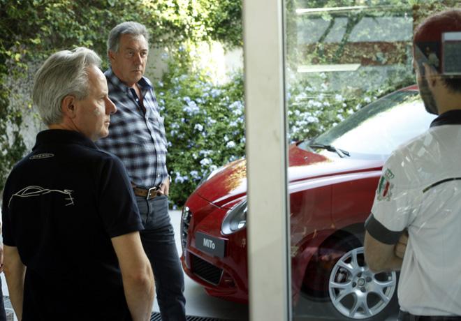 Horacio Pagani de visita por Alfa Romeo 2