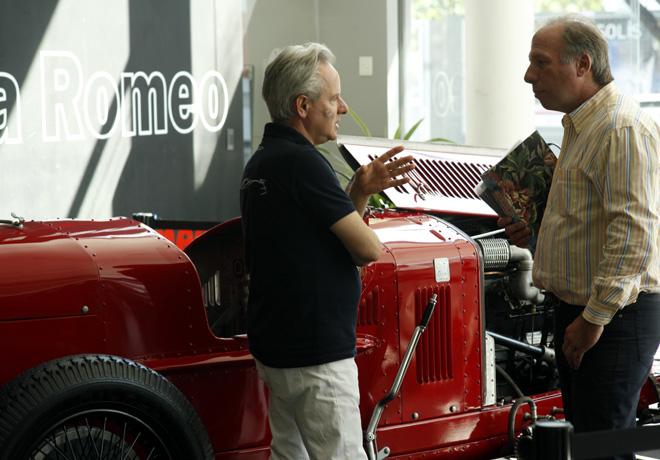 Horacio Pagani de visita por Alfa Romeo 3