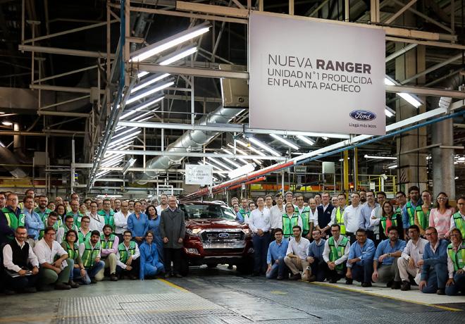 Primera Unidad de la Nueva Ford Ranger saio de la linea de Produccion de la Planta de Pacheco