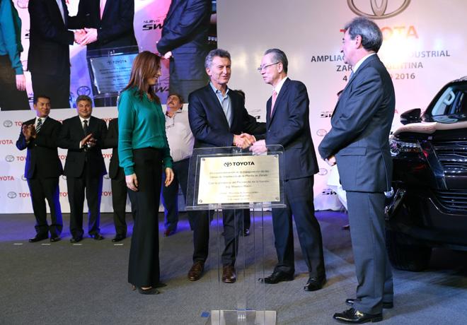 Toyota inauguro las obras de ampliacion de su planta en Zarate 2
