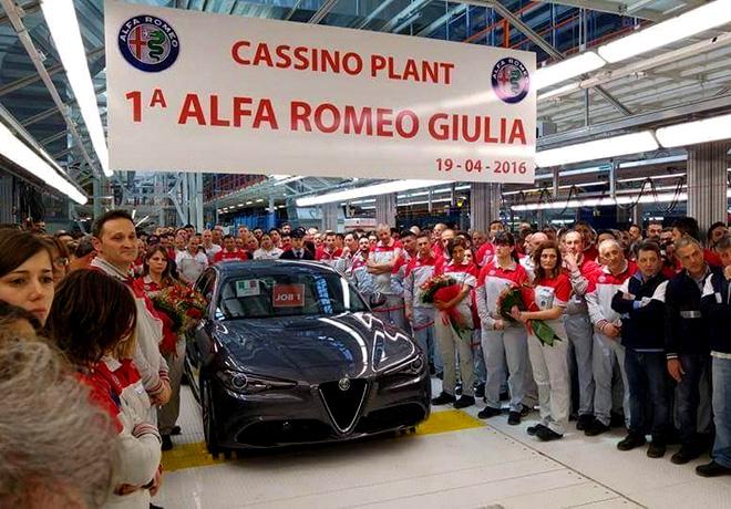 Alfa Romeo Giulia 2016 - Sale la primera unidad de fabrica