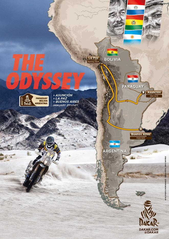 Dakar 2017 - Recorrido