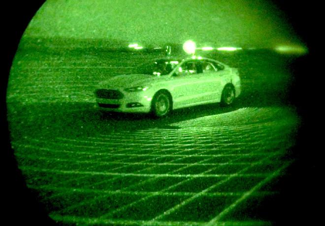 Ford prueba el Mondeo autonomo en la oscuridad absoluta 3