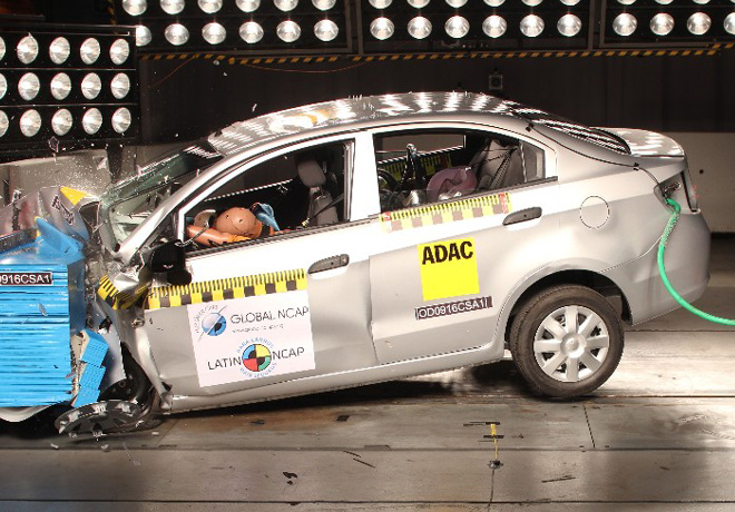 Latin NCAP - Chevrolet Sail - sin Airbags