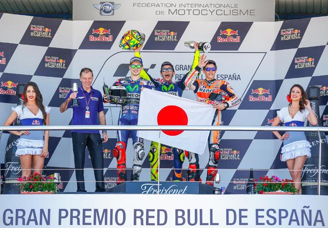 MotoGP - Jerez 2016 - Jorge Lorenzo - Valentino Rossi - Marc Marquez en el Podio
