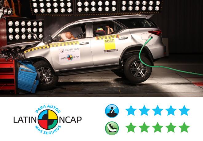 Toyota SW4 - 5 estrellas LATIN NCAP