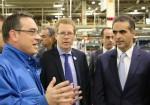 Acuerdo VW y BaPro - Curutchet y Di Si visitando el Centro Industrial Pacheco