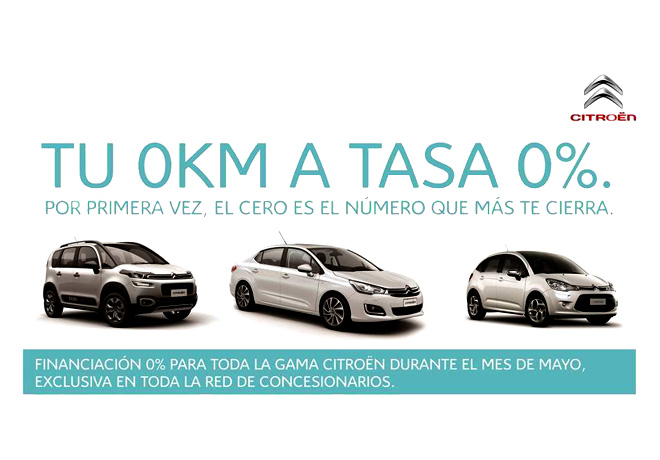 Citroen - Financiacion a tasa 0 para toda la Gama
