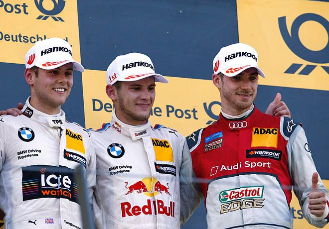 DTM - Spielberg 2016 - Carrera 1 - Tom Blomqvist - Marco Wittmann - Edoardo Mortara en el Podio