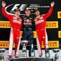 F1 - Espana 2016 - Carrera - Kimi Raikkonen - Max Verstappen - Sebastian Vettel en el Podio