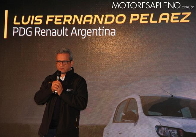 Renault - Luis Fernando Pelaez Gamboa en el lanzamiento del Sandero RS